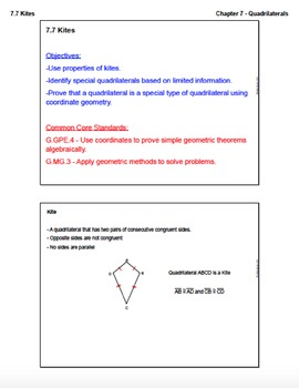 Trapezoids and Kites (Lesson with Homework)