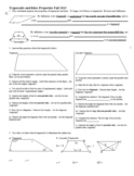Trapezoids and Kites Properties Fall 2013 with Answer Key (Editable)