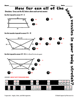Trapezoids - Finding Angles, Mid-segments, and Legs of Trapezoids