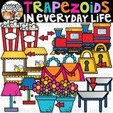 Trapezoids in Everyday Life Clipart {Trapezoids in real li