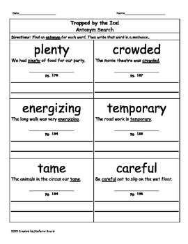 Trapped by Ice! by Michael McCurdy-Vocabulary (3rd Grade)