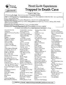 Trapped in Death Cave Literature Guide