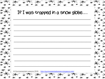 Trapped in a Snow Globe writing template