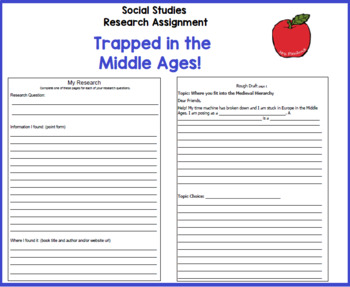 Trapped in the Middle Ages - Grade 4 Social Studies & Language Ontario