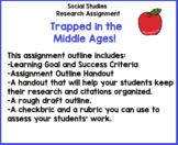 Trapped in the Middle Ages - Grade 4 Social Studies & Lang