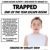 Trapped in the School For Summer: An End of the Year Escape Room Activity