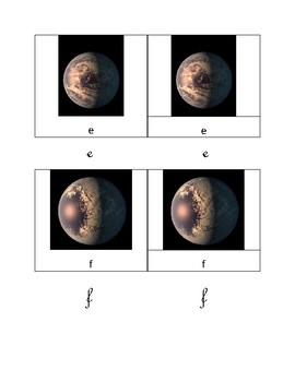 Trappist-1 Planetary System Three parts cards Montessori Inspired - Flash Card