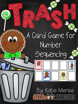 Trash! A Math Game for Sequencing Numbers {Gingerbread}