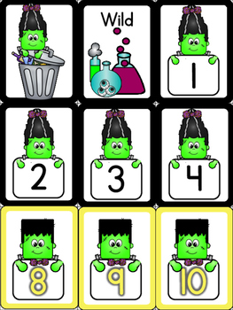 Trash! A Math Game for Sequencing Numbers {Halloween}