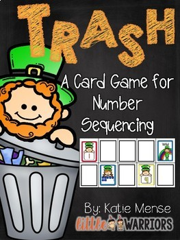 Trash! A Math Game for Sequencing Numbers {Leprechaun St. Patrick's Day}