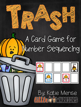 Trash! A Math Game for Sequencing Numbers {Pumpkins}