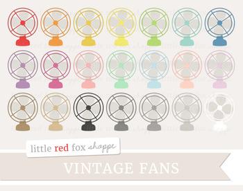 Vintage Fan Clipart; Electric Fan, Summer, Household