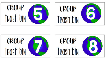 Trash Bin Labels