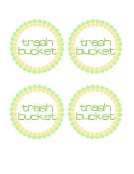 Trash Bucket Labels