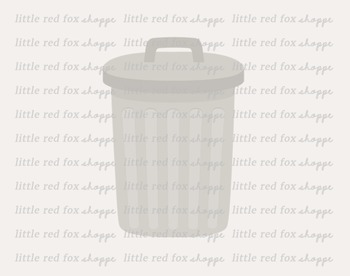Trash Can Clipart; Garbage, Metal Pail, Rubbish