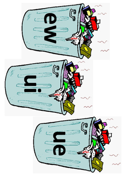 Trash Can Sort- /ew/ /ui/ /ue/