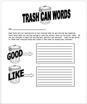 Trash Can Word Preview