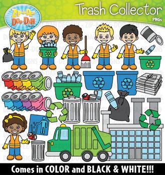 Trash Collector Community Helpers Clipart {Zip-A-Dee-Doo-Dah Designs}