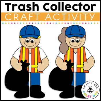 Trash Collector Cut and Paste