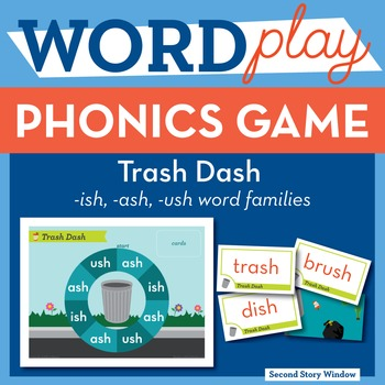 Trash Dash Mixed Vowel Word Families Phonics Game