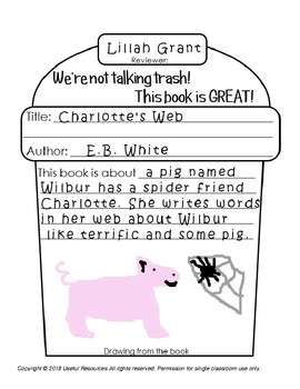 Trash Garbage Can Book Report