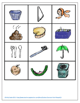 Trash Items A-Z (community helpers, letter sounds)