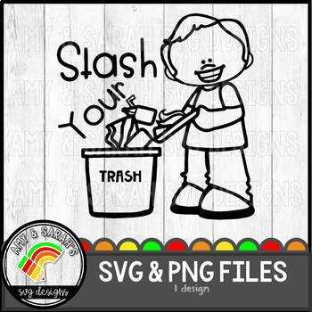Trash Label SVG Design