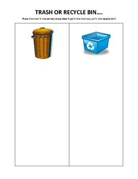 trash or recycle bin activity by tracyehlert teachers pay teachers. Black Bedroom Furniture Sets. Home Design Ideas