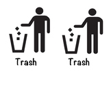 Trash and Recycling Labels