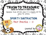 """""""Trash to Treasure"""" DVD case game - Sporty Subtraction"""