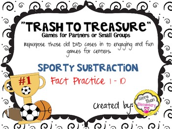 """Trash to Treasure"" DVD case game - Sporty Subtraction"
