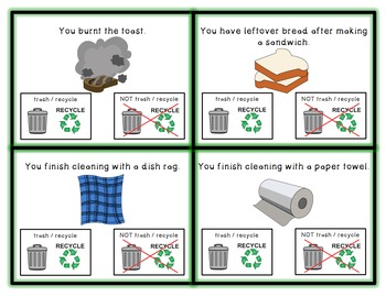 Trash or Not? Life Skill Visual Task Cards for Special Education