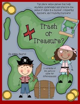 Trash or Treasure: A Place Value Math Game Common Core Aligned