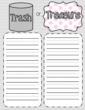 Trash or Treasure Game: CVC Sort