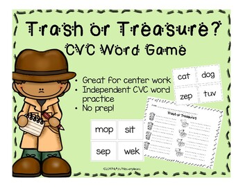Trash or Treasure - Game and Worksheet