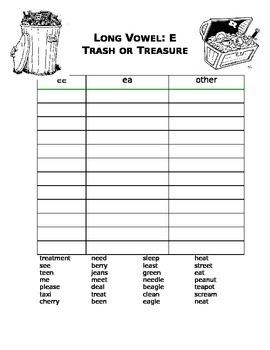 Trash or Treasure Long e sort