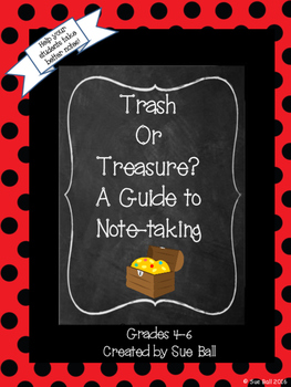 Trash or Treasure Note Taking