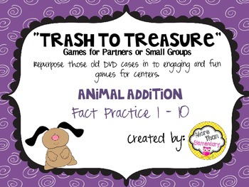 """Trash to Treasure"" DVD case game - Animal Addition"