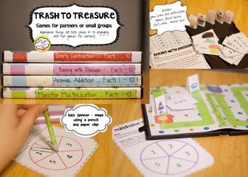 """Trash to Treasure"" DVD case game - Monster Multiplication"