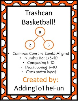 Trashcan Basketball Number Bonds 6-10