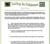 Trashing The Pollutomax: A Data Plotting Activity (Circle,