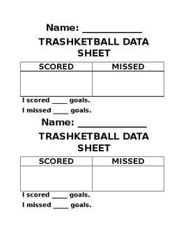 Trashketball Data Collecting Game