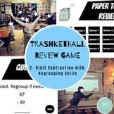 Trashketball - GOOGLE SLIDES - 2 Digit Subtraction Review Game