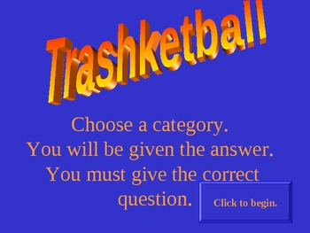 Trashketball- Geometry Test Review Game