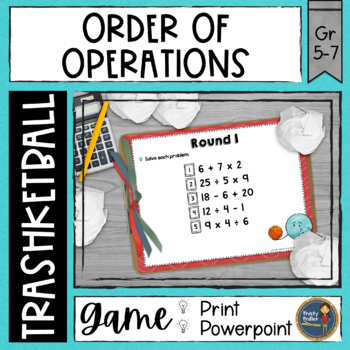 Order of Operations Trashketball Math Game
