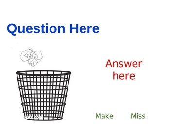 Trashketball Review Game PowerPoint Smartboard Jeopardy Style
