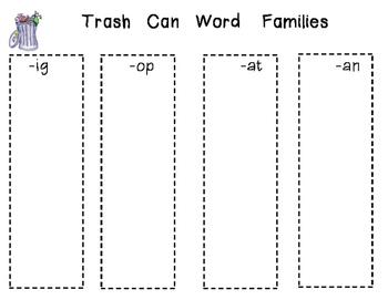 Trashy Word Families