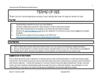 Trauma Focused CBT Narrative Packet Therapy Resource (TF-CBT)