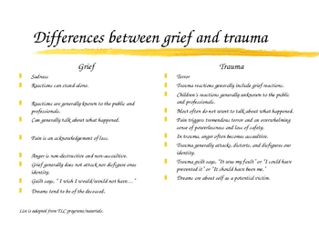 Traumatic Grief Intervention for School Staff