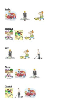 Travaux domestiques (Chores in French) Detectives speaking activity